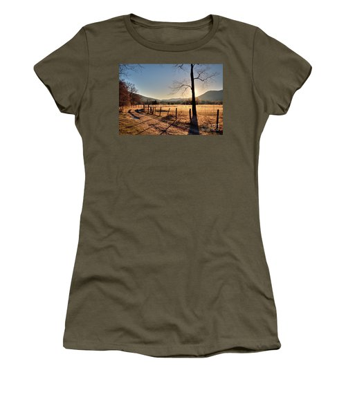 Women's T-Shirt (Junior Cut) featuring the photograph Cades Cove, Spring 2017,i by Douglas Stucky