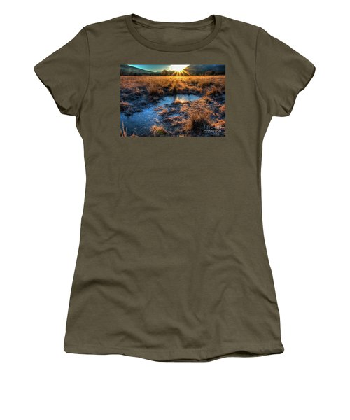 Women's T-Shirt (Junior Cut) featuring the photograph Cades Cove, Spring 2017,ii by Douglas Stucky