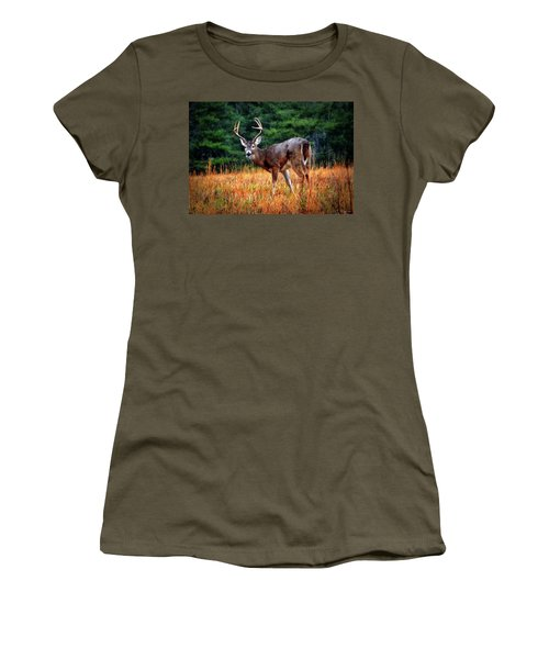 Cades Cove - The Buck Stopped Here 002 Women's T-Shirt (Junior Cut) by George Bostian