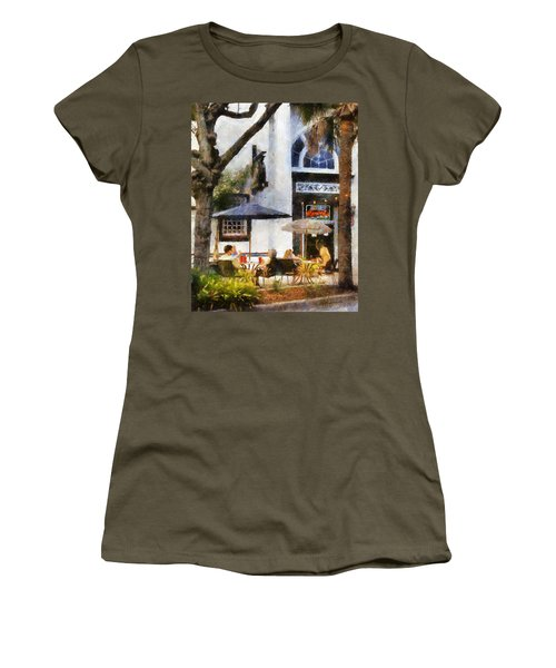 Cafe Women's T-Shirt (Junior Cut) by Francesa Miller