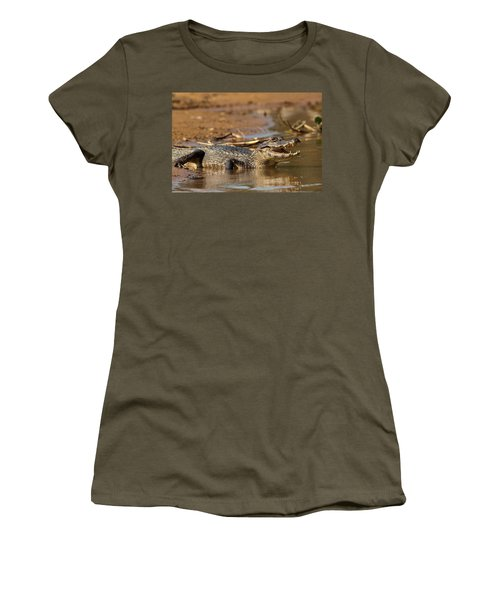 Caiman With Open Mouth Women's T-Shirt