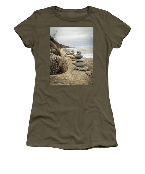 Cairn On The Beach Women's T-Shirt (Athletic Fit)
