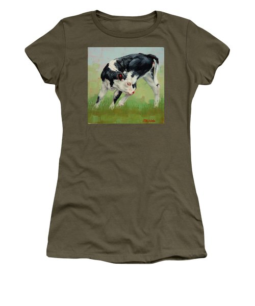Calf Contortions Women's T-Shirt (Junior Cut) by Margaret Stockdale