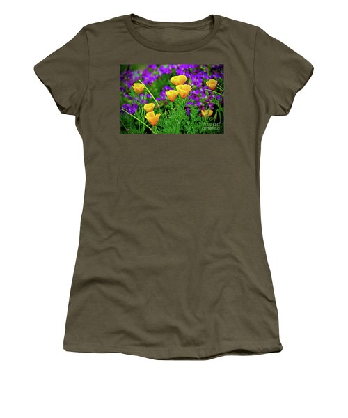 California Poppies Women's T-Shirt (Junior Cut) by Michael Cinnamond