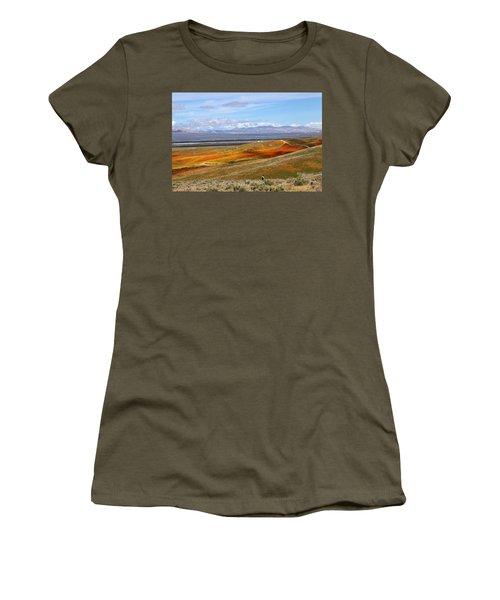 California Poppy Reserve Women's T-Shirt (Junior Cut) by Viktor Savchenko