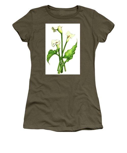 Calla Lilly Women's T-Shirt (Junior Cut) by Heidi Kriel