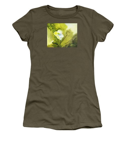 Calla Lily In Acrylic Women's T-Shirt (Junior Cut) by Frank Bright