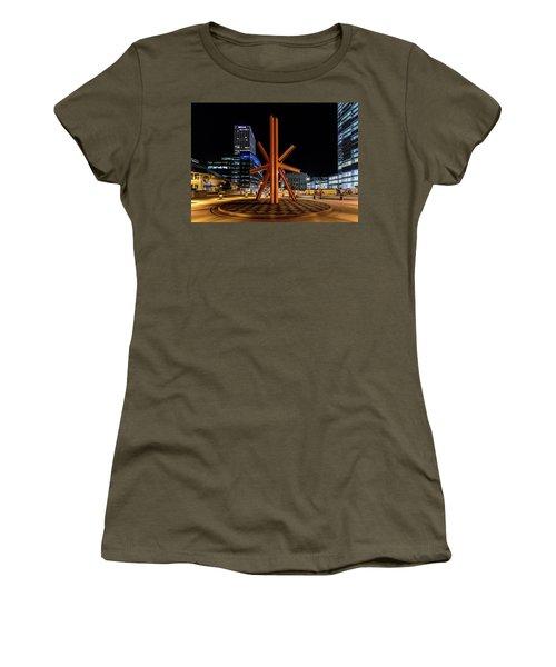 Women's T-Shirt (Junior Cut) featuring the photograph Calling After Sundown by Randy Scherkenbach