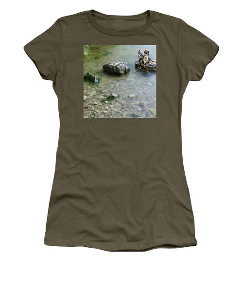 Calm Lake Women's T-Shirt (Athletic Fit)
