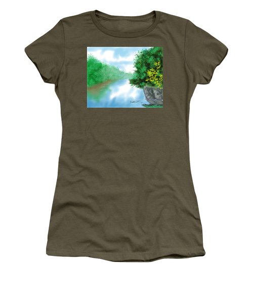 Calm River Women's T-Shirt (Athletic Fit)
