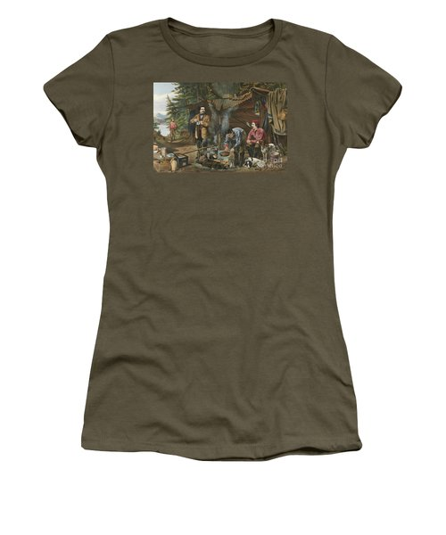 Camping In The Woods  A Good Time Coming Women's T-Shirt
