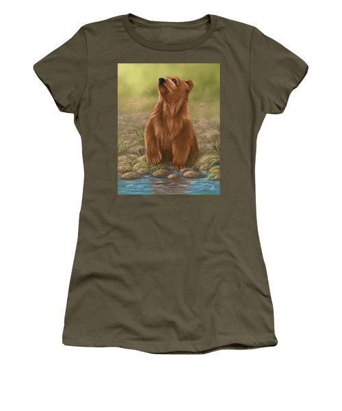 Women's T-Shirt (Junior Cut) featuring the painting Can I Dive? by Veronica Minozzi