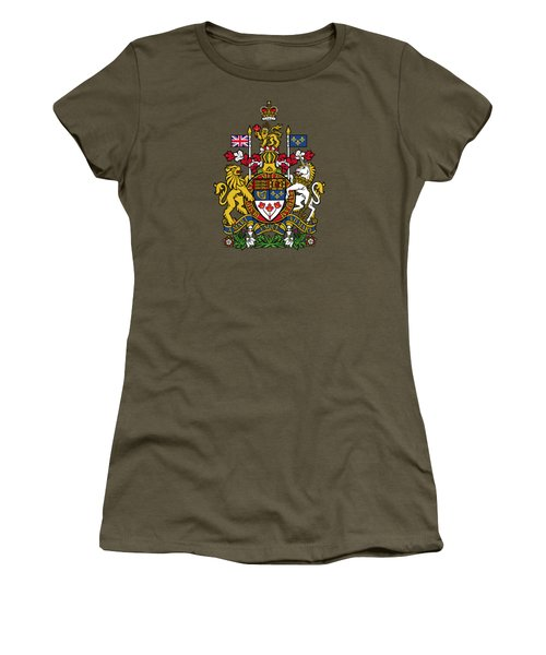 Canada Coat Of Arms Women's T-Shirt (Junior Cut) by Movie Poster Prints