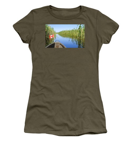 Canadians In Africa Women's T-Shirt (Junior Cut) by Betty-Anne McDonald