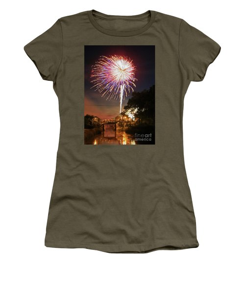Canal View Of Fire Works Women's T-Shirt
