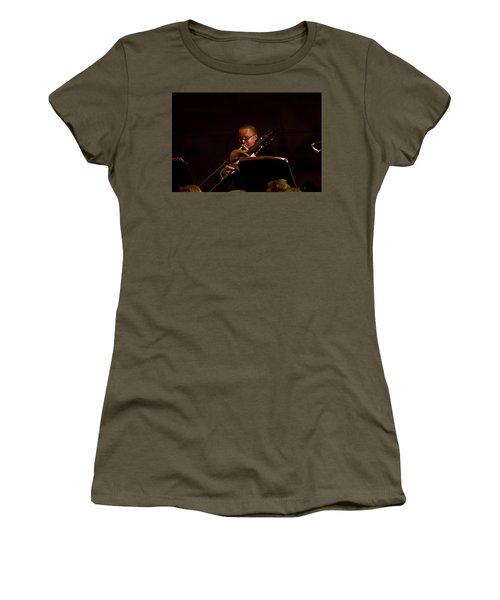 Women's T-Shirt (Athletic Fit) featuring the photograph Cancon Primi Toni - Trombone by Miroslava Jurcik