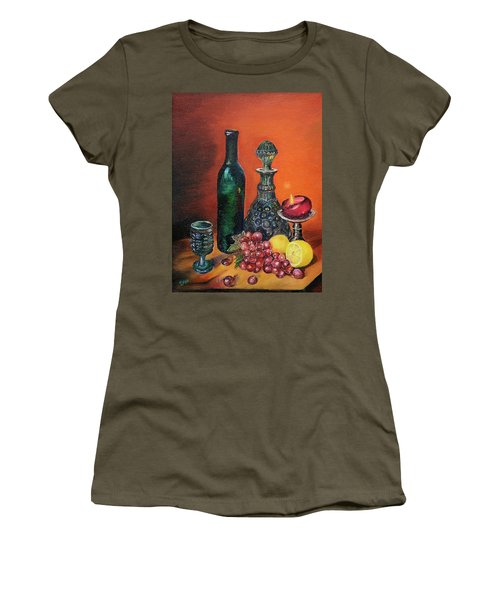 Candlelight Decanter Women's T-Shirt (Athletic Fit)