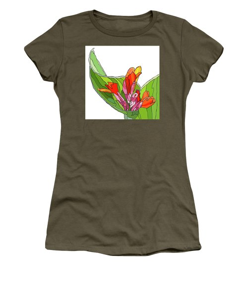 Canna Bud Women's T-Shirt (Junior Cut) by Jamie Downs