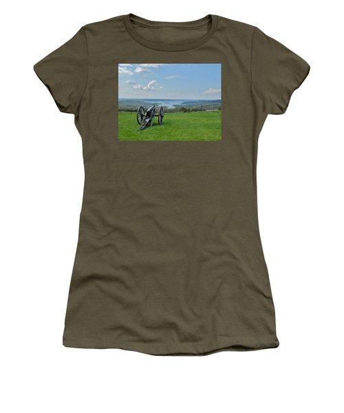 Cannons Ready Women's T-Shirt (Junior Cut) by Julie Grace