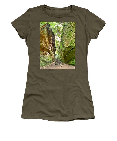 Cantwell Cliffs Trail Hocking Hills Ohio Women's T-Shirt