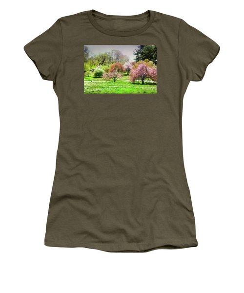 Women's T-Shirt (Junior Cut) featuring the photograph Garden Canvas  by Diana Angstadt