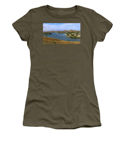 Canyon Lake Panorama Women's T-Shirt (Athletic Fit)