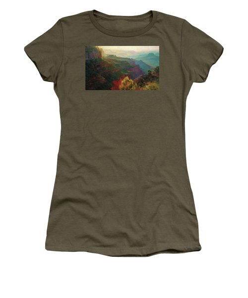 Canyon Silhouettes Women's T-Shirt (Athletic Fit)