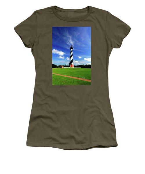 Women's T-Shirt (Junior Cut) featuring the photograph Cape Hatteras Lighthouse by Meta Gatschenberger