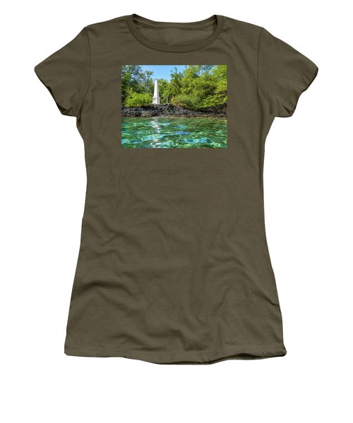 Women's T-Shirt (Athletic Fit) featuring the photograph Captain Cook Monument by Denise Bird