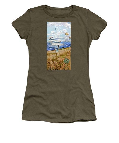 Captree Park Towel Version Women's T-Shirt (Athletic Fit)