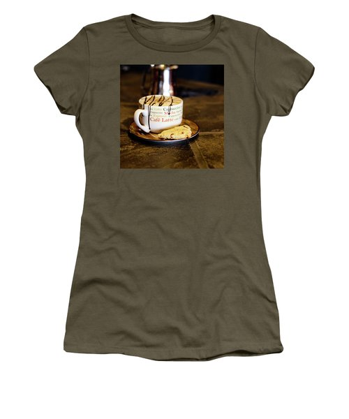 Caramel Macchiato With Scone Women's T-Shirt (Athletic Fit)