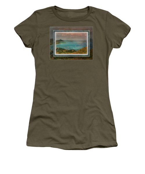 Women's T-Shirt (Athletic Fit) featuring the digital art Caribbean Symphony by Hanny Heim