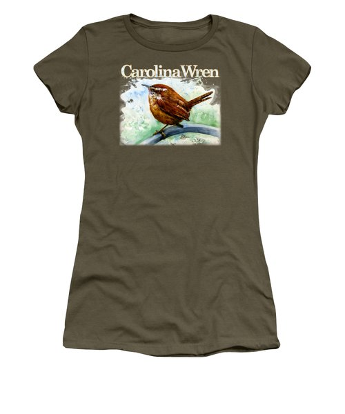 Carolina Wren Shirt Women's T-Shirt (Athletic Fit)