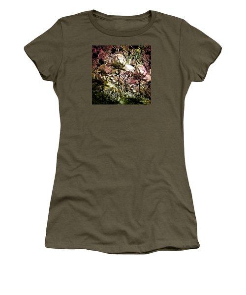 Carols Magnolia Women's T-Shirt (Junior Cut) by Karen Lewis