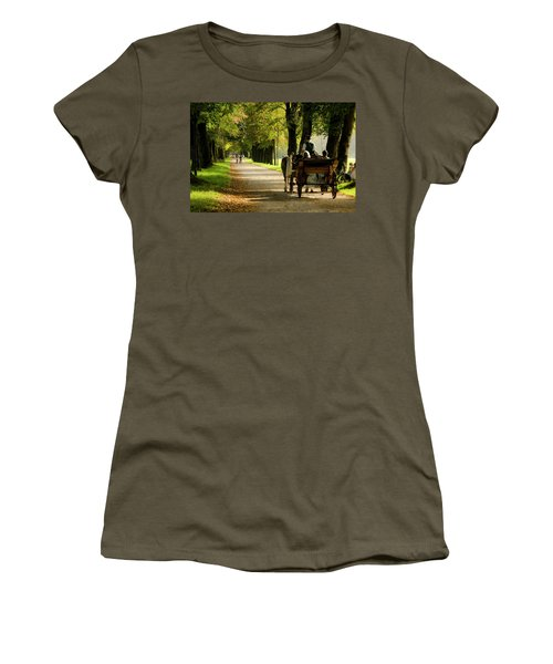 Carriage Ride In Hellbrunn Women's T-Shirt