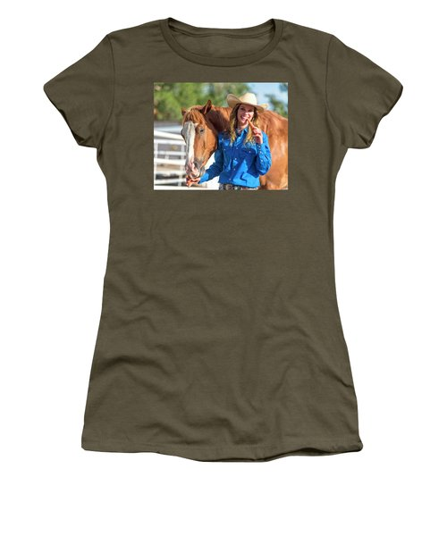 Carrots,cowgirls And Horses  Women's T-Shirt (Athletic Fit)