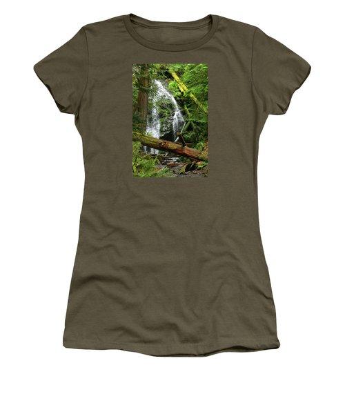 Cascade Falls - Orcas Island Women's T-Shirt (Athletic Fit)