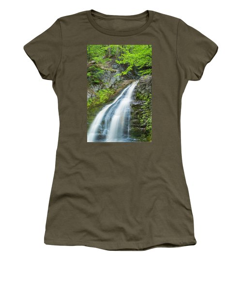 Women's T-Shirt (Junior Cut) featuring the photograph Cascade Waterfalls In South Maine by Ranjay Mitra