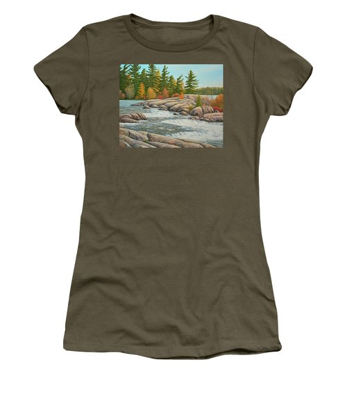 Cascading Flow Women's T-Shirt (Athletic Fit)