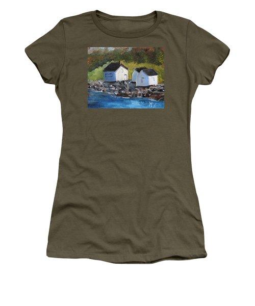 Casco Bay Boat Houses Women's T-Shirt