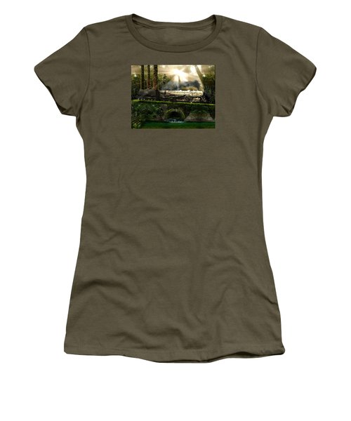 Women's T-Shirt (Junior Cut) featuring the painting Casey Jones by Michael Cleere