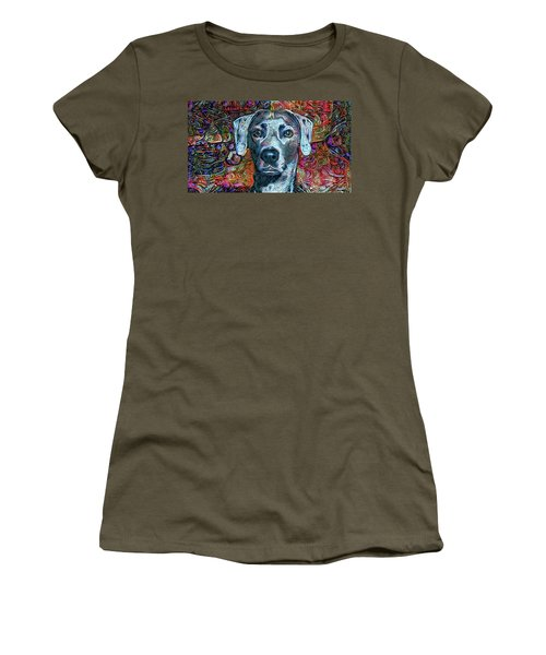 Cash The Blue Lacy Dog Women's T-Shirt