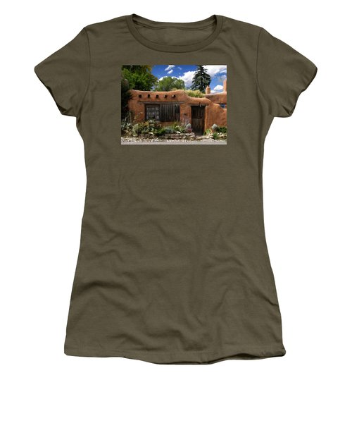 Casita De Santa Fe Women's T-Shirt (Junior Cut) by Kurt Van Wagner
