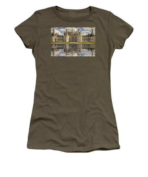 Women's T-Shirt (Junior Cut) featuring the photograph Castle Chambord by Heiko Koehrer-Wagner