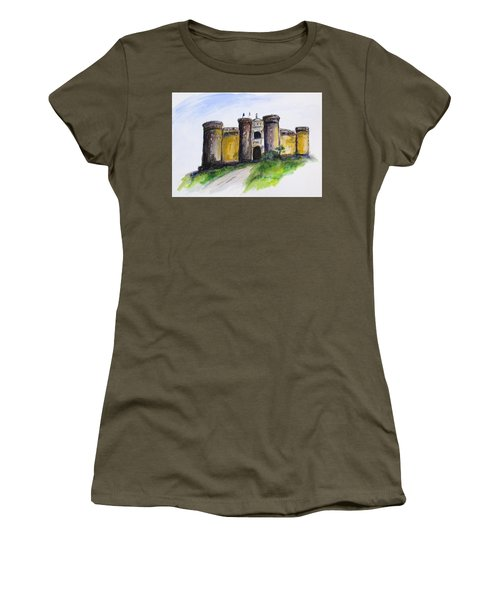 Castle Nuovo, Napoli Women's T-Shirt (Junior Cut) by Clyde J Kell