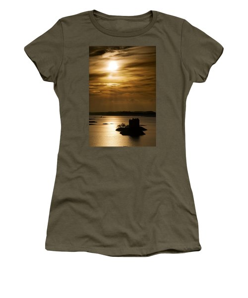 Castle Stalker At Sunset, Loch Laich Women's T-Shirt (Junior Cut) by John Short