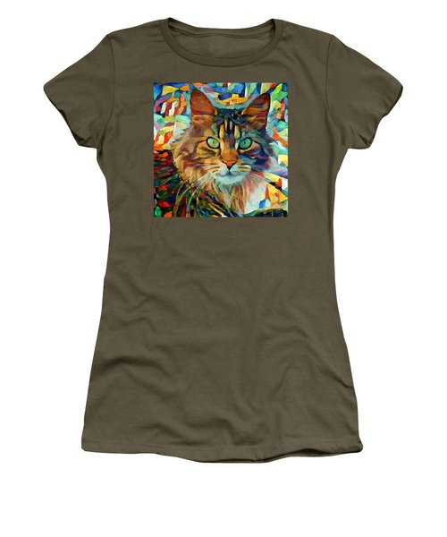 Cat On Colors Women's T-Shirt (Athletic Fit)