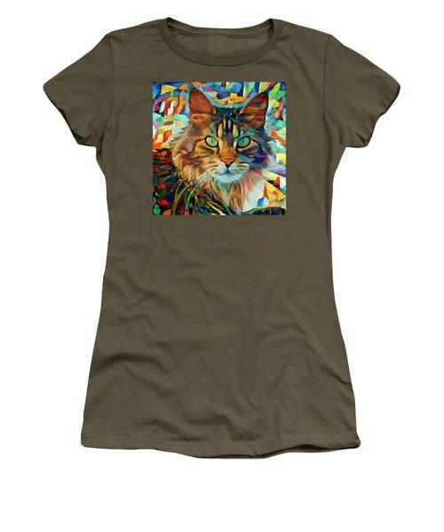 Cat On Colors Women's T-Shirt (Athletic Fit)