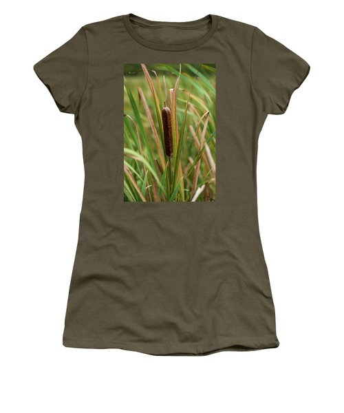 Women's T-Shirt (Junior Cut) featuring the photograph Cat Tail by Paul Freidlund