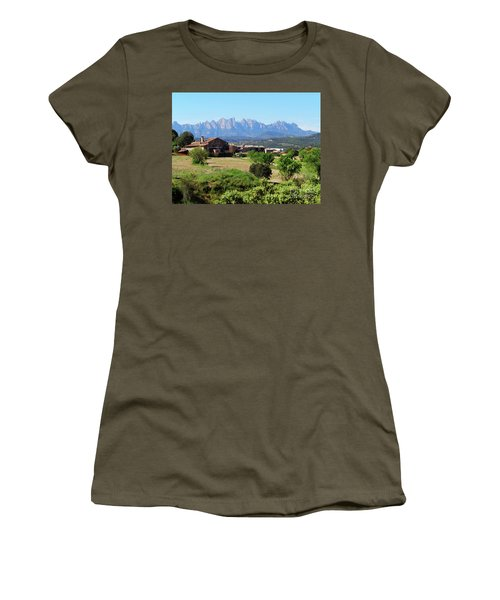 Catalan Landscape In Spring Women's T-Shirt (Athletic Fit)